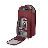 Metro: 2-Bottle Wine Tote in Burgundy & Grey by True
