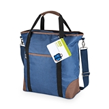 Jaunt: Insulated Cooler Tote Bag with Vegan-Leather Accents by True