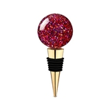 Radiance: Round Glitter Globe Bottle Stopper by Blush