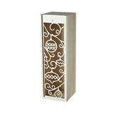 1-Bottle Laser-Cut Ornament Motif Wooden Wine Box by Twine