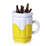 Inflatable Beer Mug-Shaped 12-Pack Beer Bucket by True