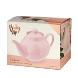 Regan Light Pink Ceramic Teapot & Infuser by Pinky Up