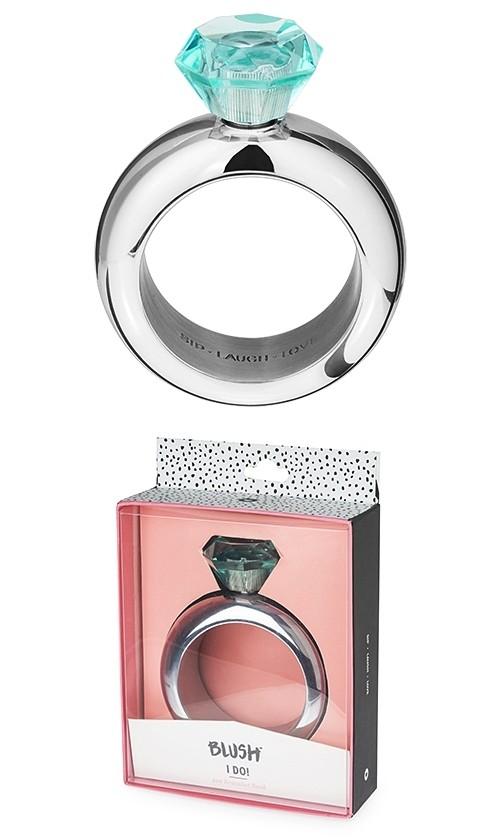 I Do: Diamond Cap Silver-Colored-Metal Bracelet Flask by Blush®