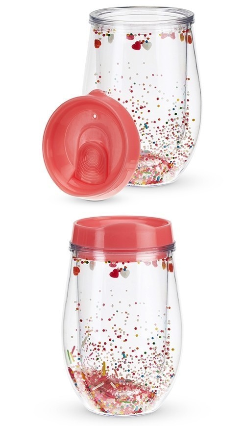 Sprinkles and Hearts Stemless Wine Tumbler by Blush