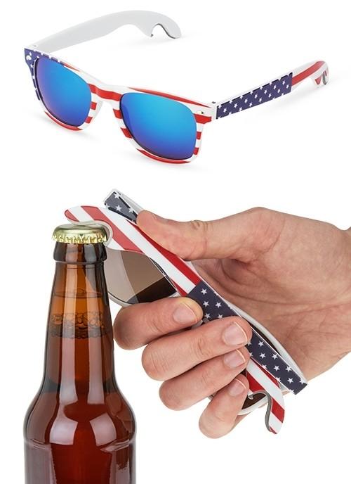 Americana Flag-Themed Bottle Opener Sunglasses by Foster & Rye
