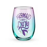 Mermaid Off Duty Stemless Wine Glass by Blush
