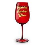 Holiday Survival Glass Full Bottle Wine Glass by Blush
