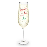 Prosecc-HO-HO-HO Full Bottle Champagne Flute by Blush
