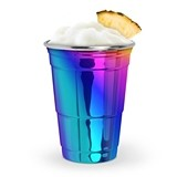 Fred Collection Rainbow-Anodized Stainless-Steel Party Cup by True