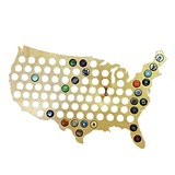 Map of the USA Beer Bottle Cap Trap by True