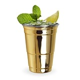 Fred Collection Gold-Plated Stainless-Steel Party Cup by True
