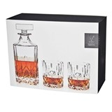 Admiral: Multi-Faceted Cut Glass Decanter & Tumbler Set by VISKI