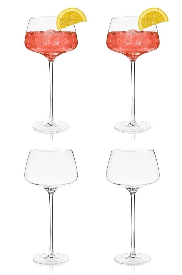 Raye: Lead-Free Crystal Amaro Spritz Glasses by VISKI (Set of 2)