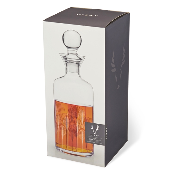 Admiral: Art Deco 42oz Lead-Free Crystal Liquor Decanter by VISKI