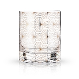 Art Deco Zenith Design 10oz Lead-Free Crystal Tumbler by VISKI