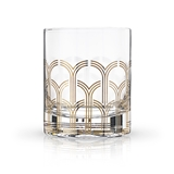 Art Deco Hairpin Design 10oz Lead-Free Crystal Tumbler by VISKI