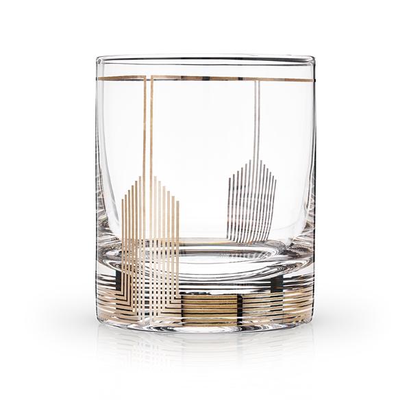 Art Deco Empire Design 10oz Lead-Free Crystal Tumbler by VISKI