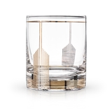 Art Deco Empire Design 10oz Lead-Free Crystal Tumbler by VISKI