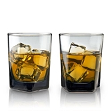 Smoke: Double Old Fashioned Lead-Free Crystal Glasses by VISKI