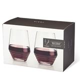 Art Deco Crystal Stemless Wine Glasses by VISKI (Set of 2)
