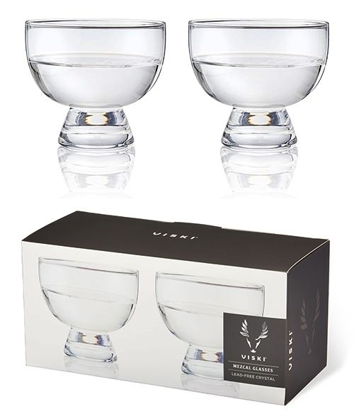 Copita: Lead-Free Crystal Mezcal Glasses by VISKI (Set of 2)