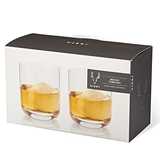 Lead-Free Crystal Whiskey Tumblers by VISKI (Set of 2)
