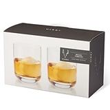 Lead-Free Crystal Whiskey Tumblers by VISKI (Set of 2)