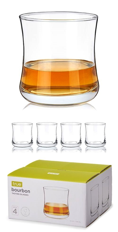 Essential Bourbon Tasting Glasses by True (Set of 4)