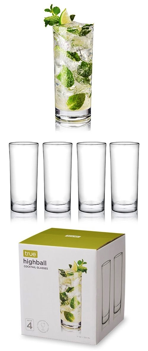Essential Highball Cocktail Glasses by True (Set of 4)