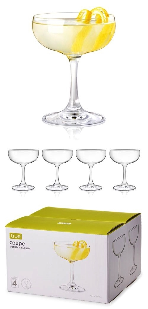 Essential 7 oz Coupe Cocktail Glasses by True (Set of 4)