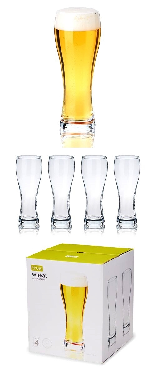 Essential Wheat Beer Pint Glasses by True (Set of 4)