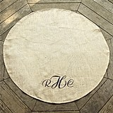Cathy's Concepts Personalized Keepsake Natural Jute Wedding Vow Rug