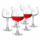 Vintage-Type-Font Personalized 13 oz. Red Wine Glasses (Set of 6)