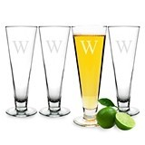 Cathy's Concepts Classic Monogrammed Pilsner Glasses (Set of 4)