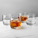 Personalized 10.75 oz. Heavy-Based Whiskey Glasses (Set of 4)