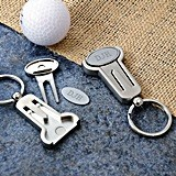 Personalized Multi-Function Golf Key Ring and Tool Set