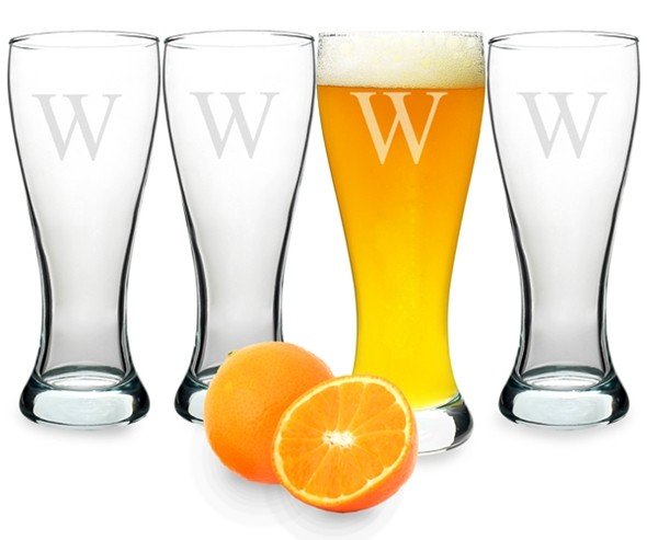 Cool Personalized 20 oz. Pilsner Glasses (Set of 4)