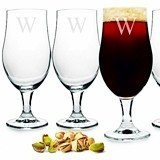 Charming Personalized 16.5 oz. Stemmed Glass Goblets (Set of 4)