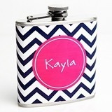 Trendy Chevron Patterned Stainless Steel Personalized Flask