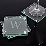 Extremely Stylish Personalized Glass Coasters (Set of 4)