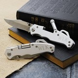 Stainless Steel Pocket Knife/Tool with Mini Flashlight