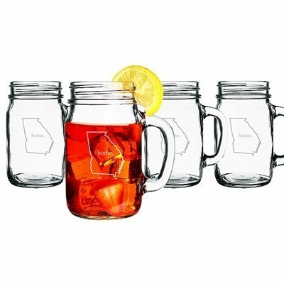 16 oz. My Home State Collection Old-Fashioned Drinking Jars (Set of 4)