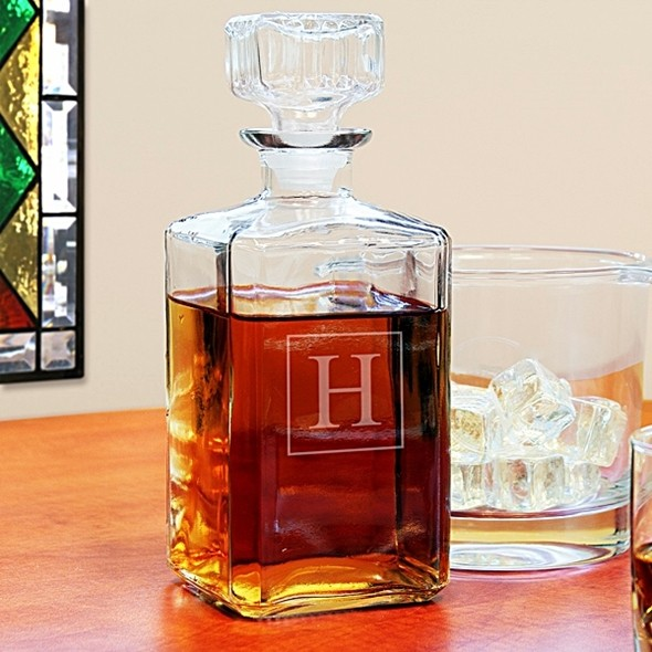 Cathy's Concepts Fantastic Personalized 34 oz. Square Glass Decanter
