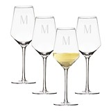 Personalized 14 oz. Stemmed White Wine Estate Glasses (Set of 4)
