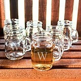 Personalized Miniature 4 oz. Mason Jar Shot Glasses (Set of 6)