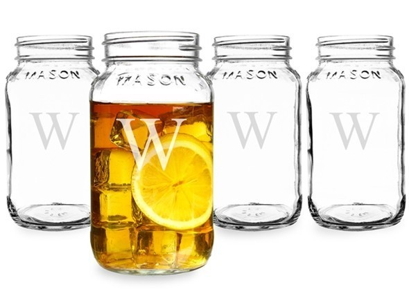 Cathy's Concepts Engraved Nostalgic 16 oz. Mason Jars (Set of 4)
