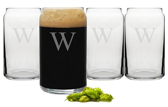 Cathy's Concepts Monogrammed 16 oz. Craft Beer Glasses (Set of 4)