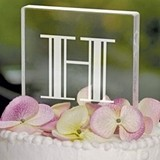 Cathy's Concepts Art Deco Monogram Square Wedding Cake Topper