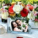 Personalized Glass Vase/Picture Frame for Reception