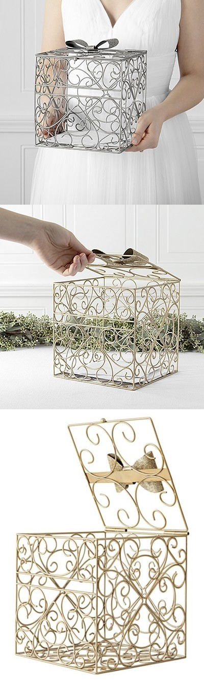Cathy's Concepts Bow-Tie Reception Card Holder (Gold or Silver)